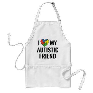 Avental Eu amo meu amigo autístico