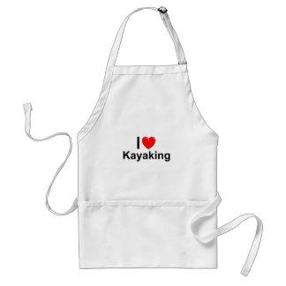 Avental Eu amo o coração que Kayaking