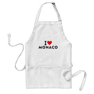 Avental Eu amo o país de Monaco como o turismo do viagem