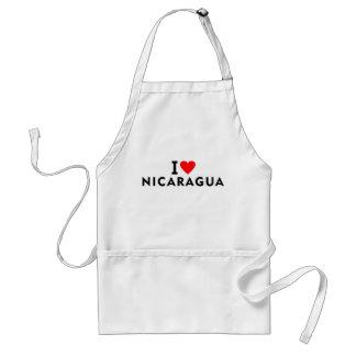 Avental Eu amo o país de Nicarágua como o turismo do