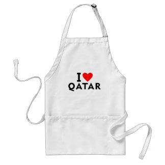 Avental Eu amo o país de Qatar como o turismo do viagem do