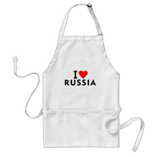 Avental Eu amo o país de Rússia como o turismo do viagem