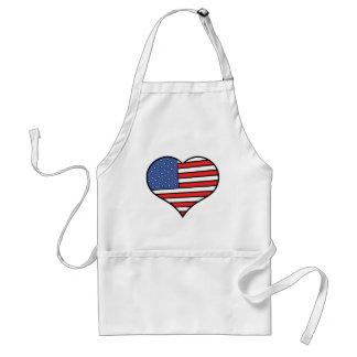 Avental Eu amo orgulho de América - os Estados Unidos da