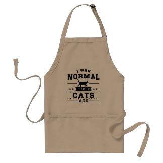 Avental Eu era três gatos normais há