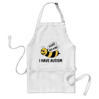 Avental Eu estou com o autismo