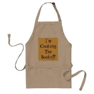 Avental Eu estou cozinhando os livros! Chalaça financeira
