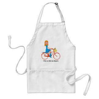Avental Eu gosto de montar minha bicicleta