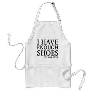 Avental Eu tenho bastante calçados
