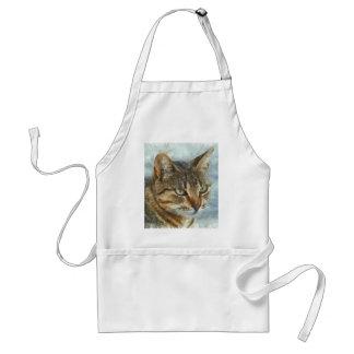 Avental Fim impressionante do gato de gato malhado acima