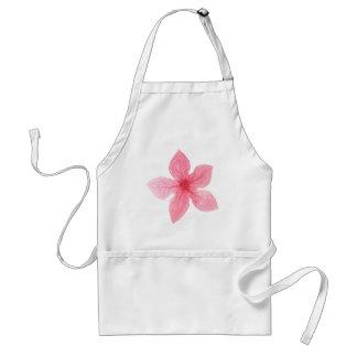 Avental flor cor-de-rosa da aguarela