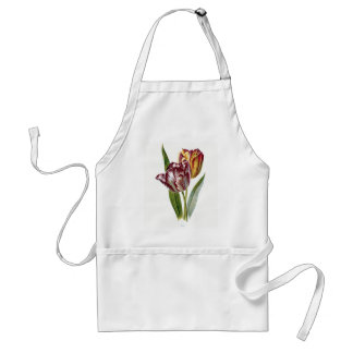 Avental Flor da tulipa do vintage