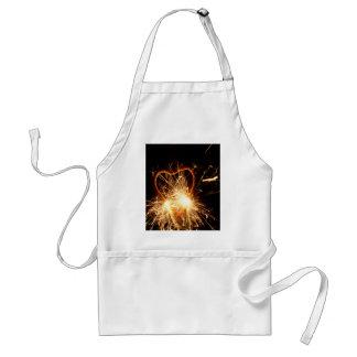 Avental Foto macro de um sparkler ardente no formulário de