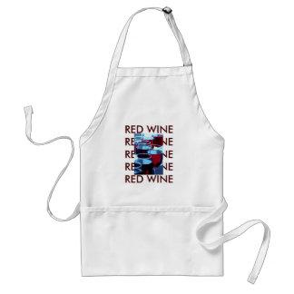 Avental Fotografia do vinho tinto