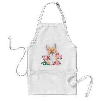 Avental Foxy feliz e rosas