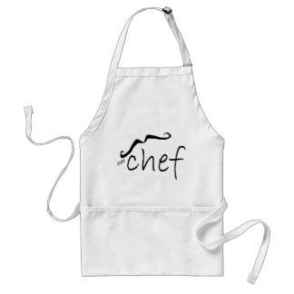 Avental francês do cozinheiro chefe de Zee