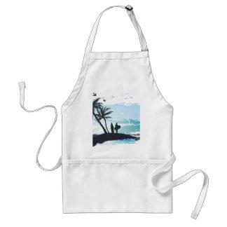 Avental Fundo do surfista do verão da palma