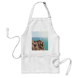 Avental Gaivota que olha para fora ao mar