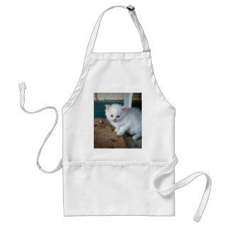 Avental Gatinho branco