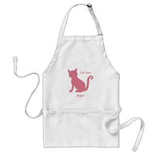 Avental Gato cor-de-rosa