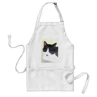 Avental Gato preto e branco