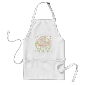 Avental green_peach_cupcake_with_icing