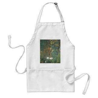 Avental Gustavo Klimt - flores dos girassóis do jardim do