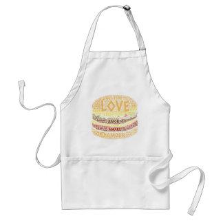 Avental Hamburger ilustrado com palavra do amor