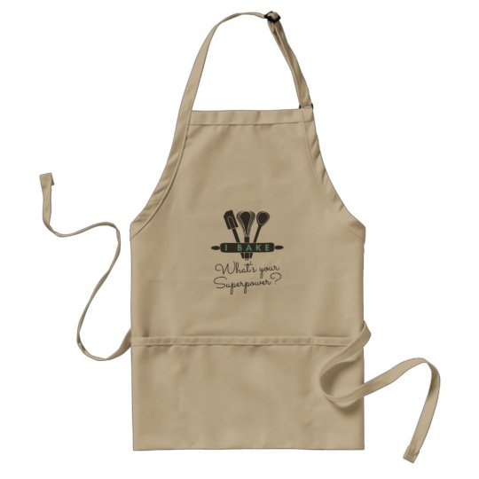 Avental I bake What's your superpower Apron