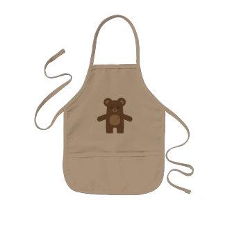 Avental Infantil Abraço de urso bonito de Brown