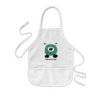 Avental Infantil Alienígena verde engraçada bonito