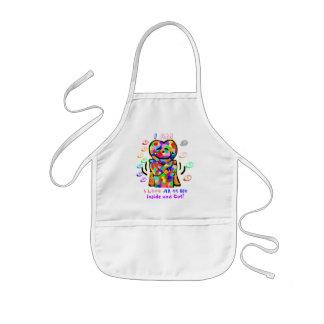 Avental Infantil Alma do arco-íris