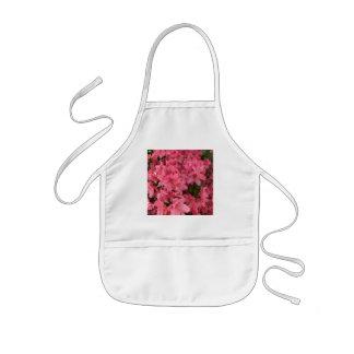 Avental Infantil Arbusto de florescência cor-de-rosa brilhante na