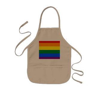 Avental Infantil Bandeira do arco-íris