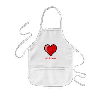 Avental Infantil Blusa da pintura do coração!