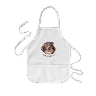 Avental Infantil Cara bonito do filhote de cachorro de Yorkshire