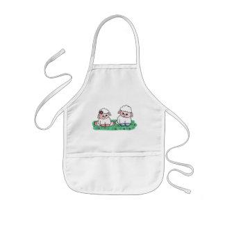 Avental Infantil carneiros do bebê