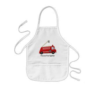 Avental Infantil Carro de bombeiros feito sob encomenda com texto