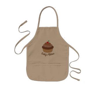Avental Infantil Cozinha do cupcake do chocolate