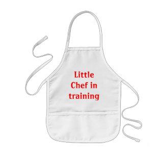 Avental Infantil Cozinheiro chefe pequeno no treinamento