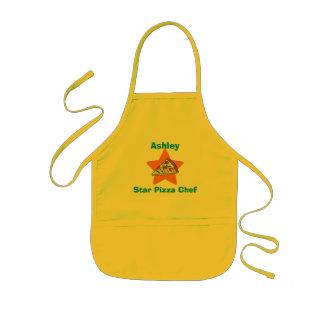 Avental Infantil Cozinheiro chefe personalizado da pizza da estrela