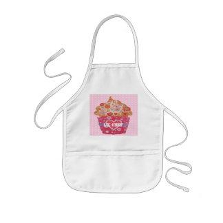 Avental Infantil Cupcake customizável e bolinhas