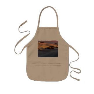 Avental Infantil Dunas de areia lisas o Vale da Morte do Mesquite
