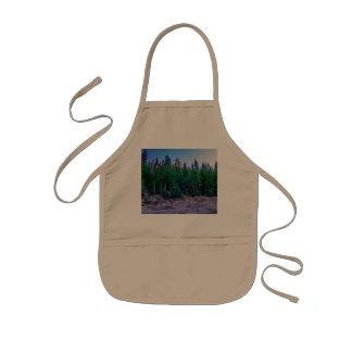 Avental Infantil Floresta & céu do vale de Yosemite