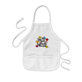 Avental Infantil Logotipo do grupo do Sr. Homem Pequeno senhorita |