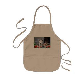 Avental Infantil Natal da alpaca