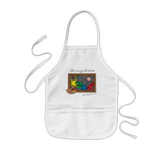 Avental Infantil O artista esfomeado engraçado para miúdos  