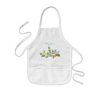 Avental Infantil O bebê colorido Squirrels | personaliza