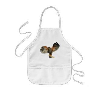 Avental Infantil O Flapping do falcão voa a pintura da aguarela