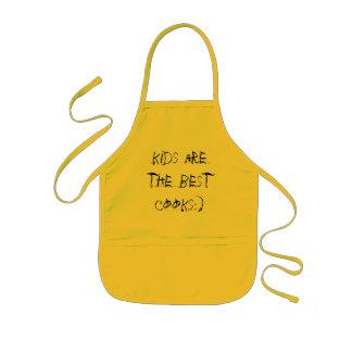 Avental Infantil Os miúdos são os melhores cozinheiros:) caçoa o