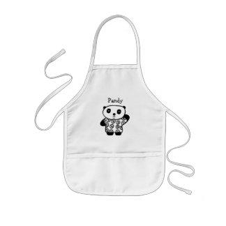 Avental Infantil Pandy personalizado a panda